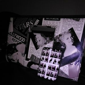 👍🏽BUNDLE👍🏽 Marilyn Monroe Clutch and Wallet